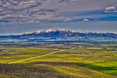 looking across to Fairfield, Camas county Idaho