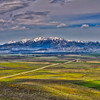 looking across to Fairfield, Camas county Idaho