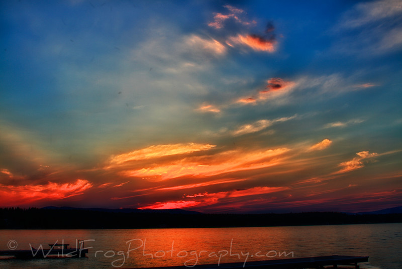 Sunset on Flathead Lake