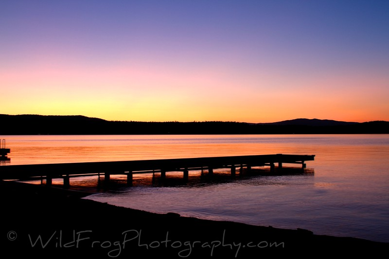 Flathead Lake Sunset,Montana