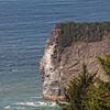 Looking down on to a small Island off the Coastal drive near Klamath
