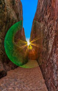 Orb between the rocks