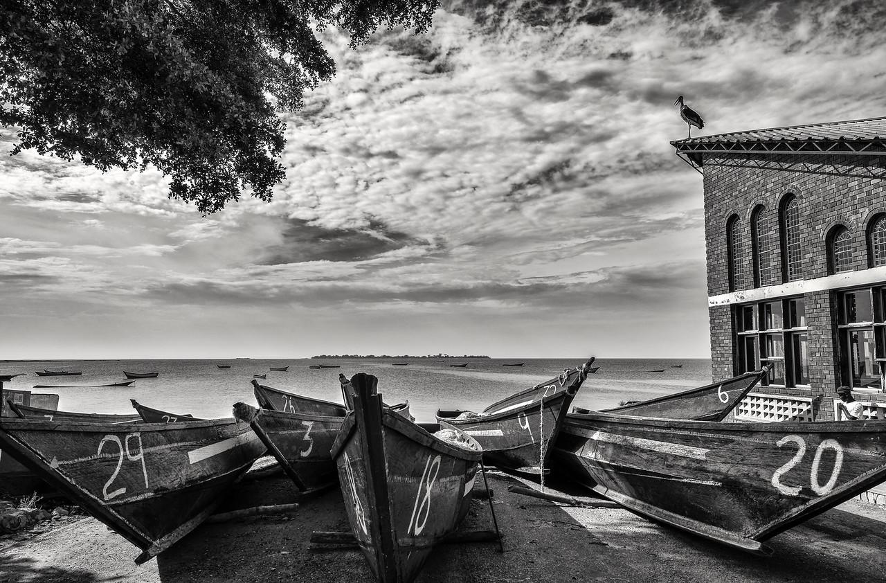 The fishing village of Kigungu on the shores of lake Victoria, Uganda, 2016.