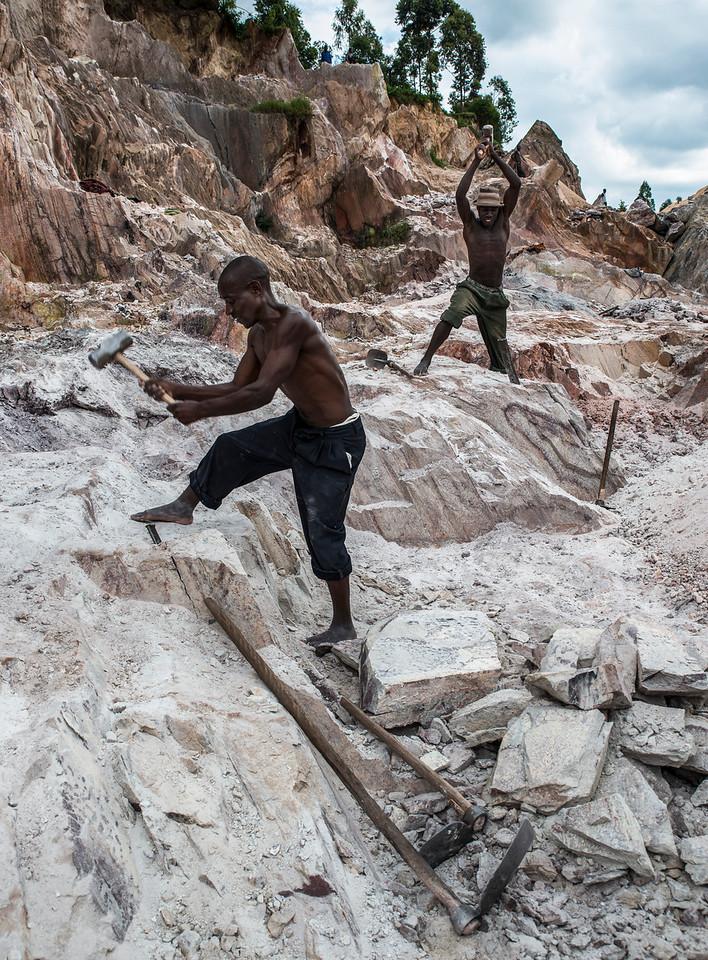 Men working at a quarry<br /> <br /> Uganda, 2016.