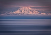 Redoubt Volcano at dawn, as seen from Kenai Peninsula, Alaska, USA.