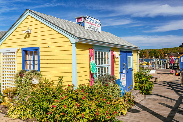 Colourful  lobster fisherman hut