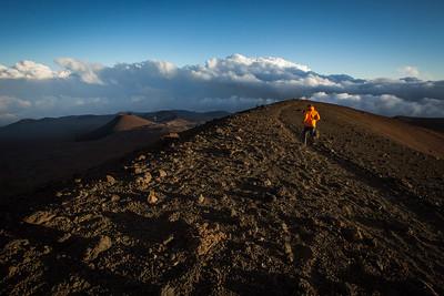 Volcano summit run, Hawaii