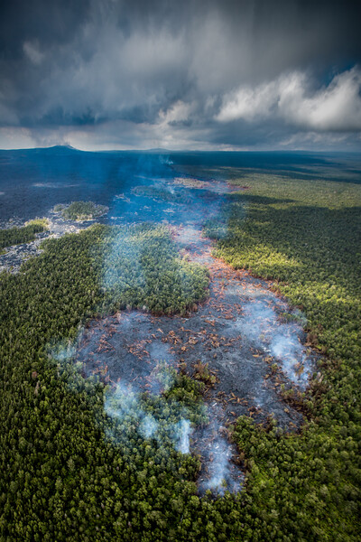 Lava flows, Volcano National Park