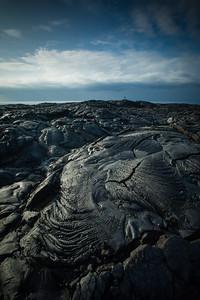 Coastal lava formations, Hawaii