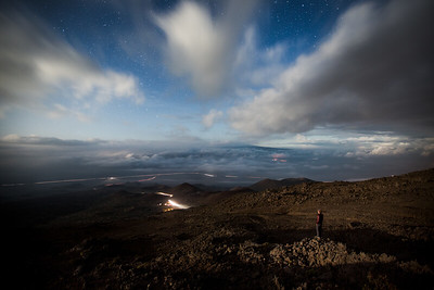 Nightscene over Hawaii