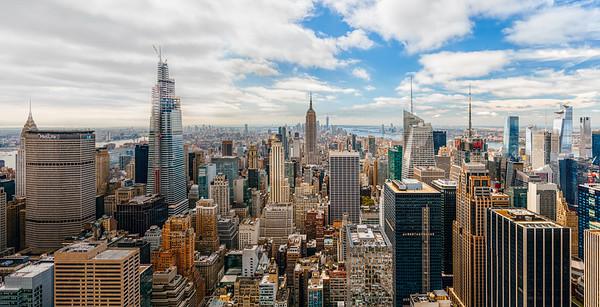 Lower Manhattan from Rockefeller Center