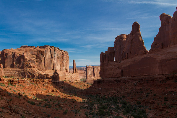 """""""Park Avenue"""" valley in Arches National Park."""