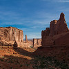 """Park Avenue"" valley in Arches National Park."