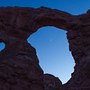 Moon through Turret Arch
