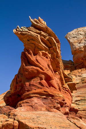 Weathered sandstone outcropping; not part of White Pocket.