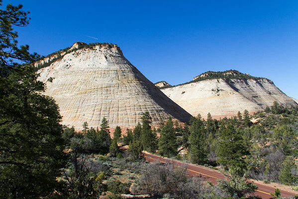 Checkerboard Mesa on the left, Crazy Quilt Mesa on right.