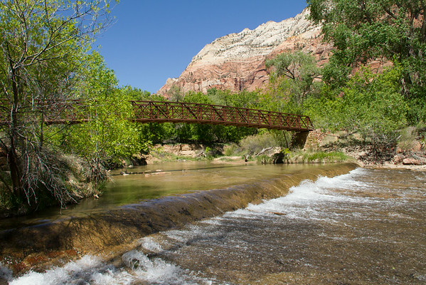 Virgin River near the Court of the Patriarchs.