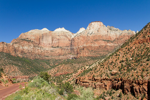 Looking west from the Zion-Mt. Carmel Highway switchbacks.
