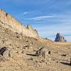 Shiprock and lava dike wall