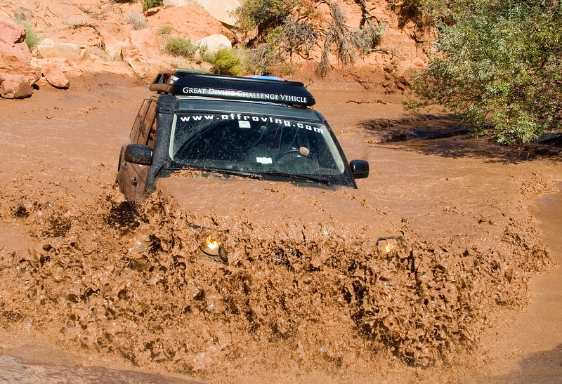 Adam Spiker getting muddy in his Range Rover Sport