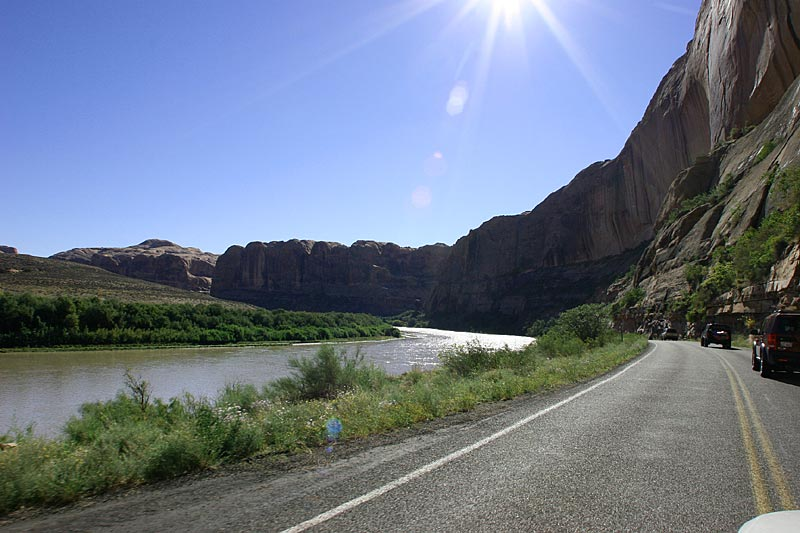 The mighty Colorado river - on the way towards the trail head for Top of the World...and Sorrel Canyon Ranch