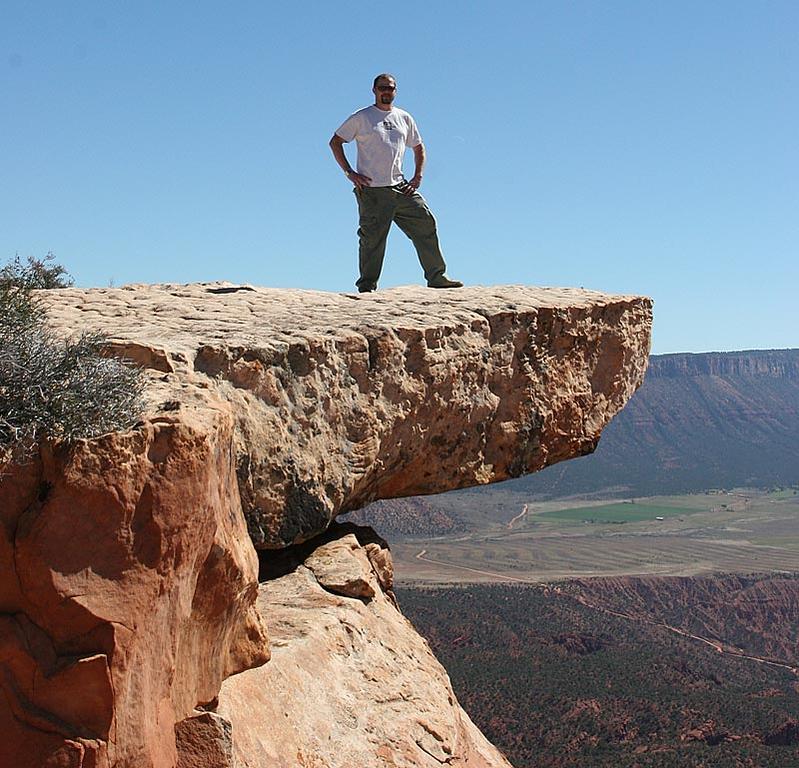 Joe Nosal braving the view