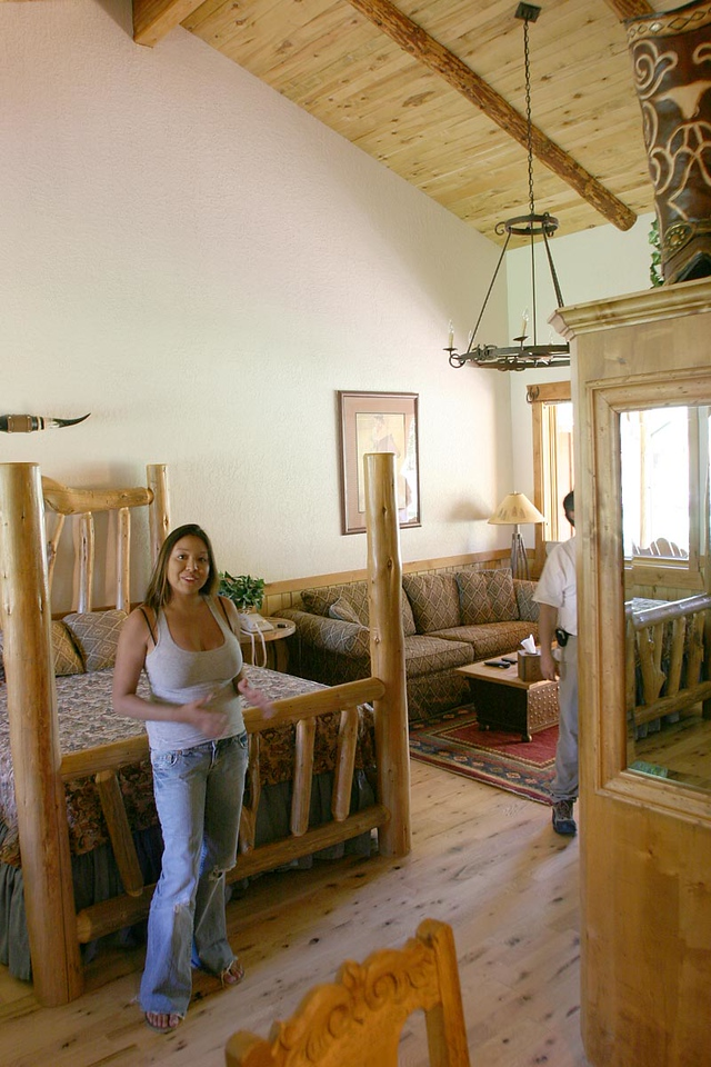 Adam's room at Sorrel Canyon Ranch, with Melissa in the foreground