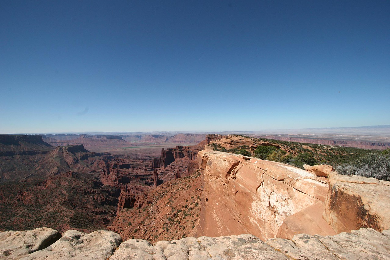 View from the top of Top of the World - looking South towards Moab (not visable)