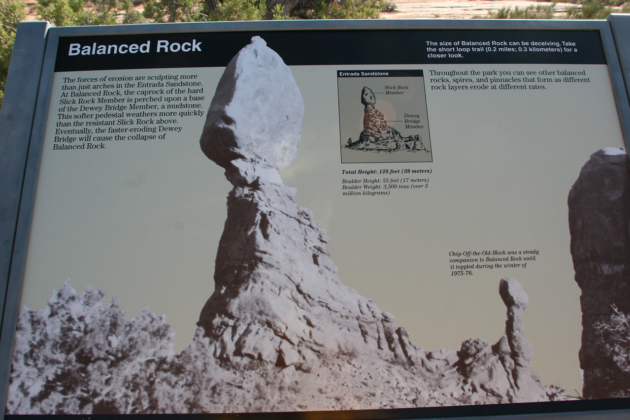Balanced Rock in Arches National Park.