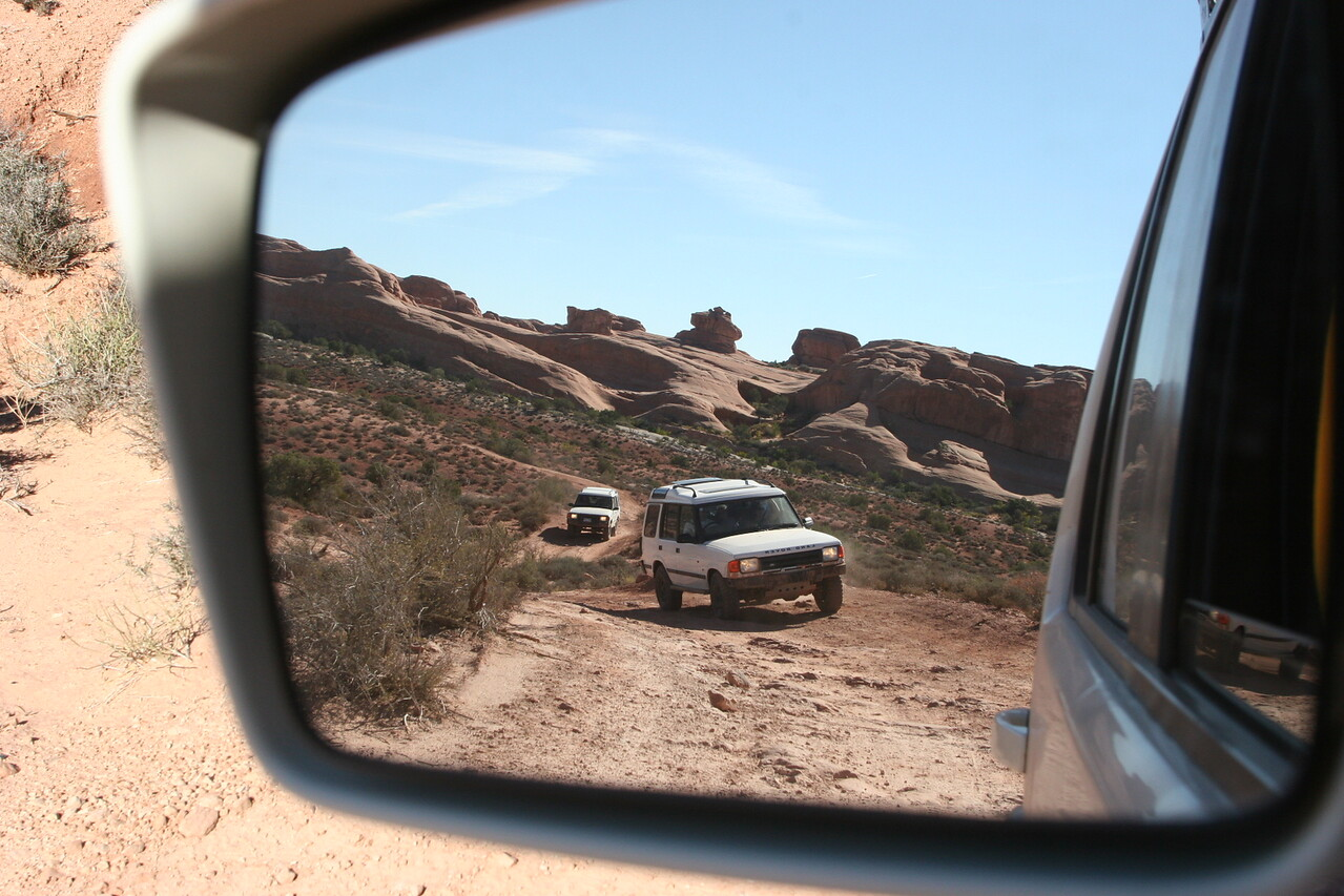 It's not every day you see a view like this in your mirror...unless you happen to own a Land Rover!