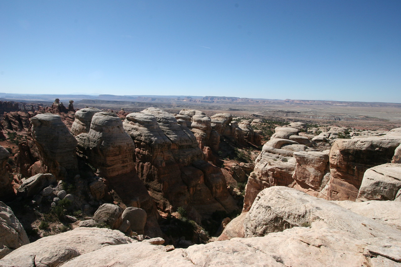 The view from high on top of Klondike bluffs after a short hike.