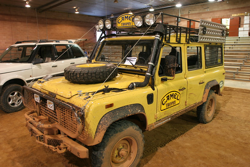 Origional & authentic Camel Trophy Land Rover, from Steve at British Car Services in LA.