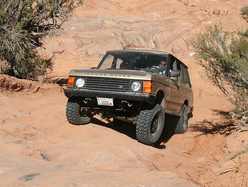 "John ""RoverDude.com"" Gadd making everything look easy in his Range Rover Classic."