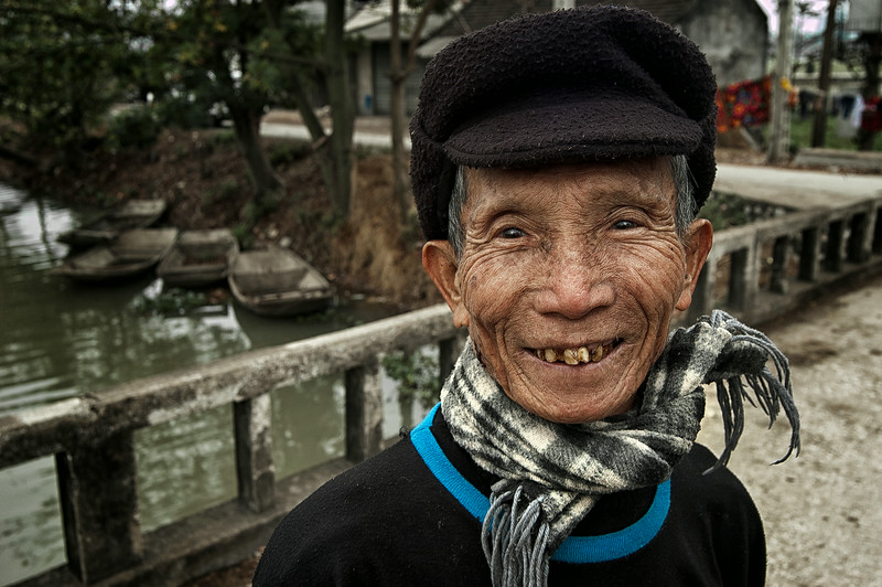 Old Vietnamese man.