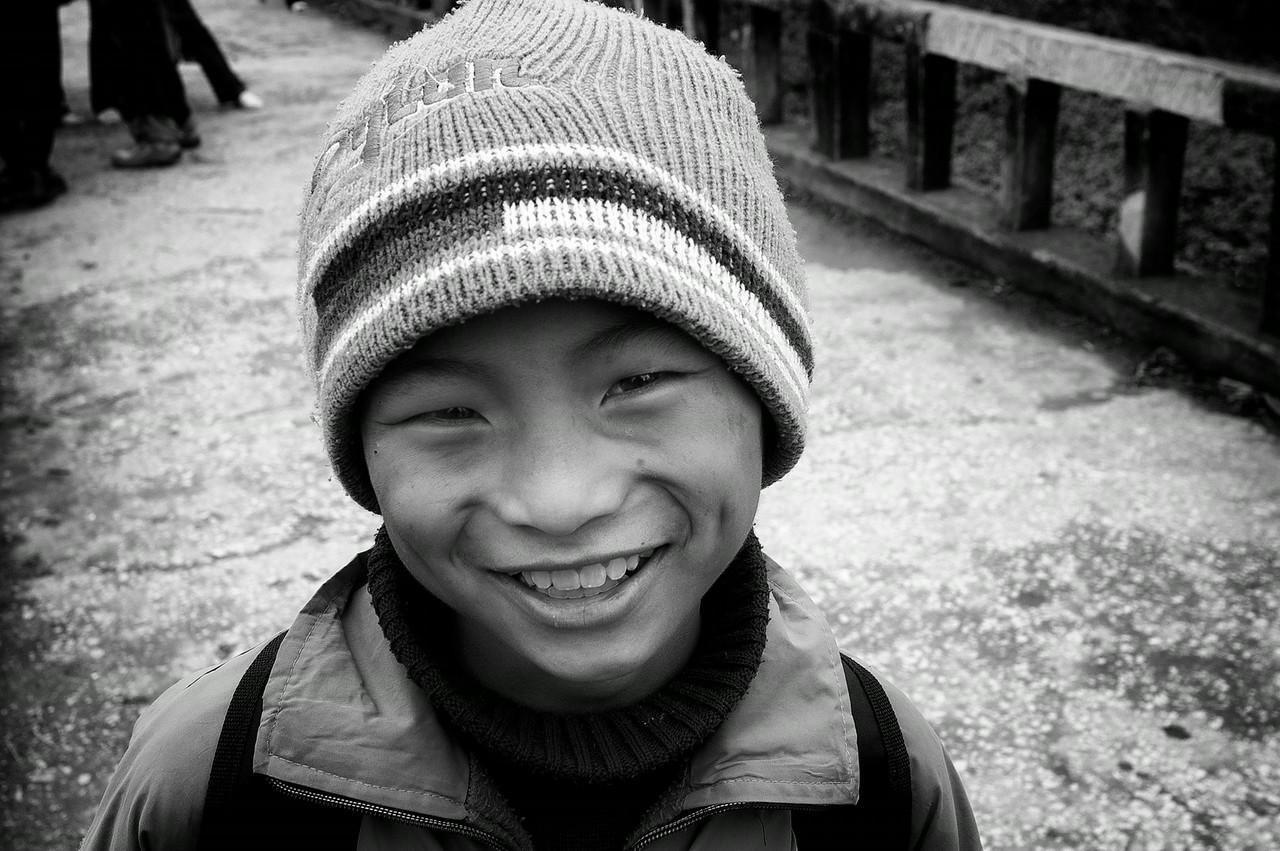 Portrait of a boy.<br /> <br /> Vietnam, 2008.