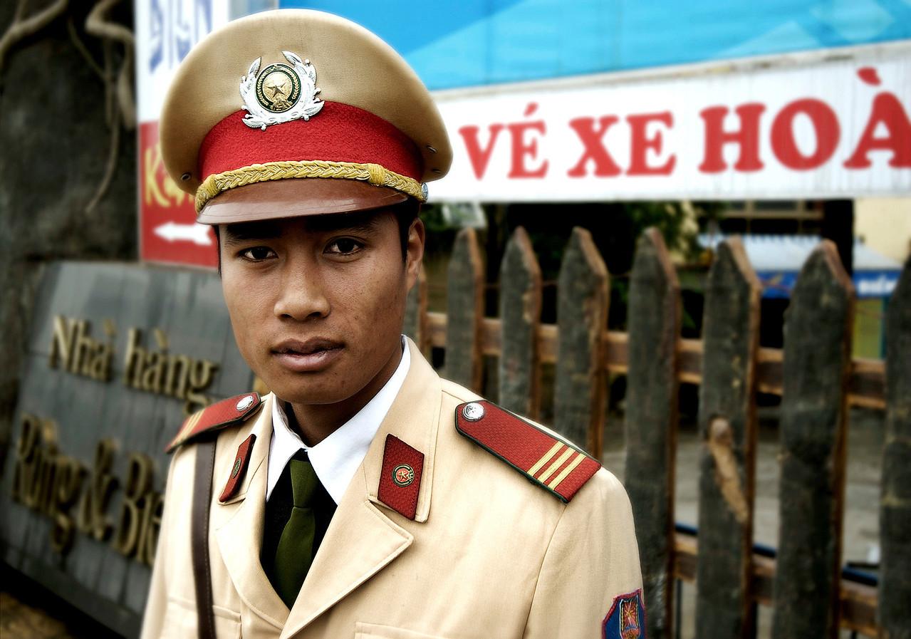 Police officer.<br /> <br /> Saigon, Vietnam 2008