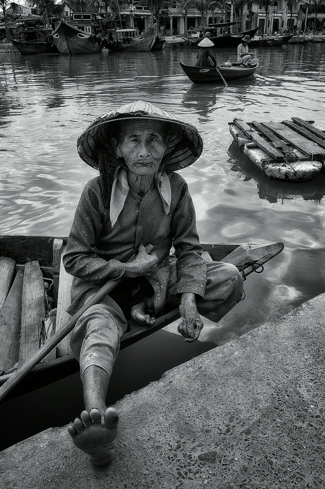 Boat woman.<br /> <br />  Hoi An, Vietnam, 2008