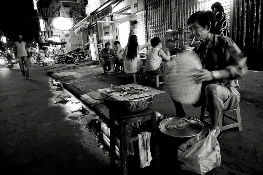 Vietnam's street food is some of the best in the world. The options are endless and the dishes timeless. <br /> <br /> Saigon, Vietnam, 2008