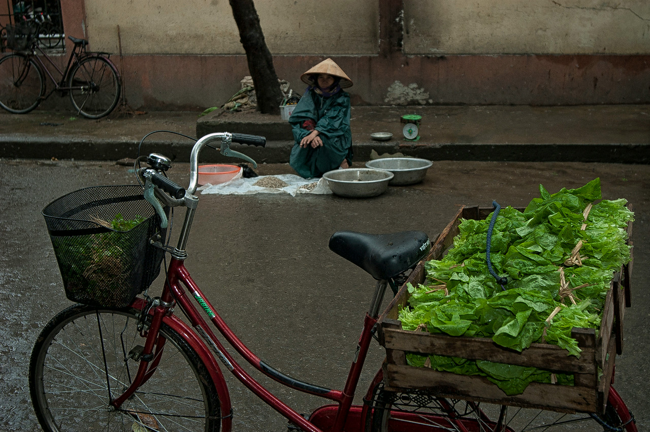 Early morning at the market.<br /> <br /> Ninh Binh, Vietnam, 2008