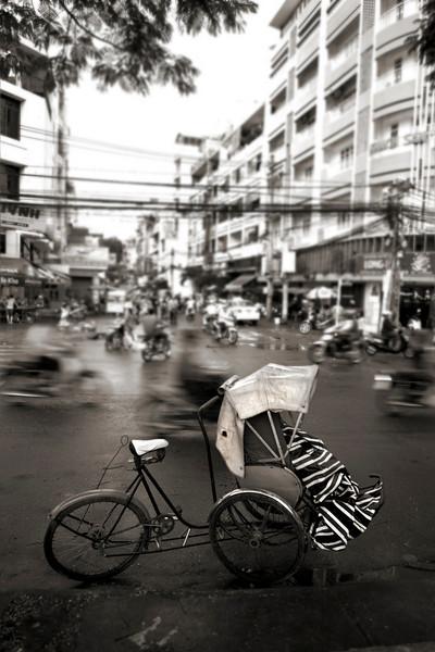 Street chaos in Saigon.<br /> <br />  Vietnam, 2008