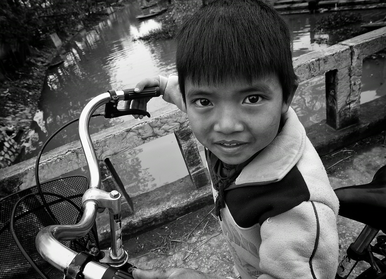 boy in a small village close to <br /> <br /> Ninh Binh, Northern Vietnam, 2008