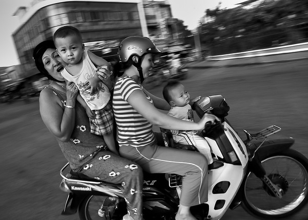The frequency of helmet use in the four study locations ranged from 90–99% among adults, from 15–53% among children. Out Of the parents surveyed, 67% said the fear of neck injury was the most important reason their children did not wear a helmet. Rach Gia, Vietnam, 2008