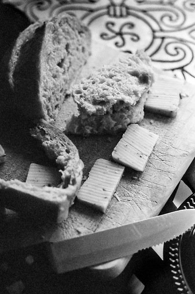 Bread and cheese....the perfect pairings for Virginia wine at Sunset Hills Vineyard, Virginia. Kodak Tri-X,  2014.