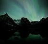 Aurora borealis over Grizzly Lake, Tombstone Territorial Park, Yukon, Canada.