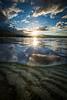 Sand ripples underwater, Kluane