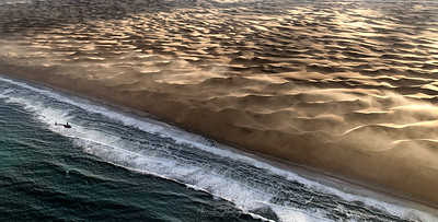 Flying Over Skeleton Coast