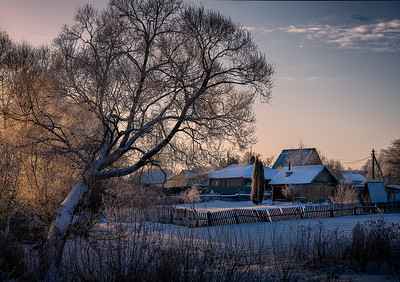 Dunilovo village, Russia