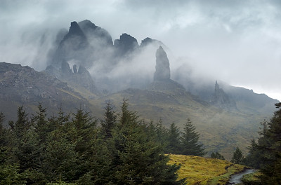 Rainy Day at The Old Man of Storr