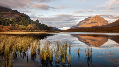 Loch Clair and Liathach Mountain