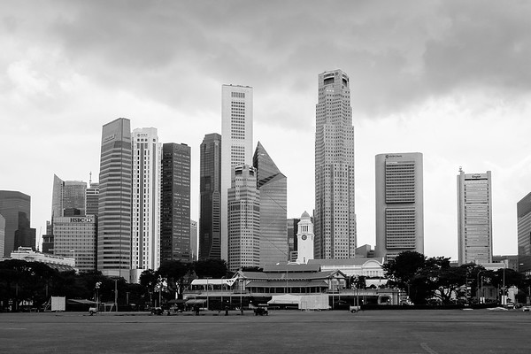 Singapore Recreation Club and financial district in Singapore